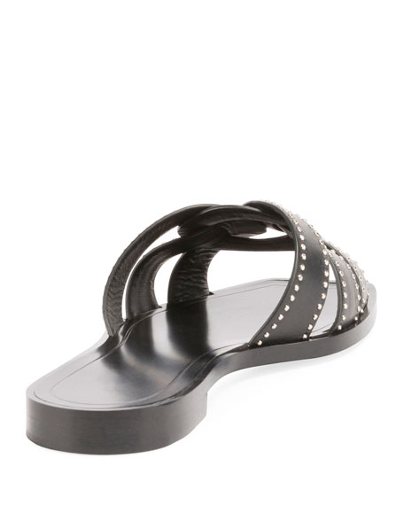 Studded Flat Tribute Slide Sandal