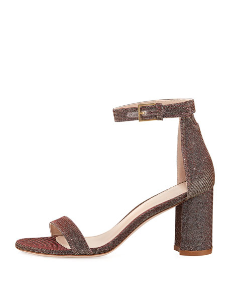 LessNudist Metallic Fabric Sandal