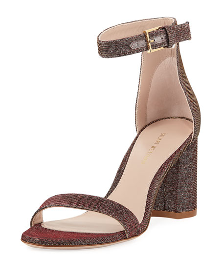 75LESSNUDIST Metallic Fabric Sandal
