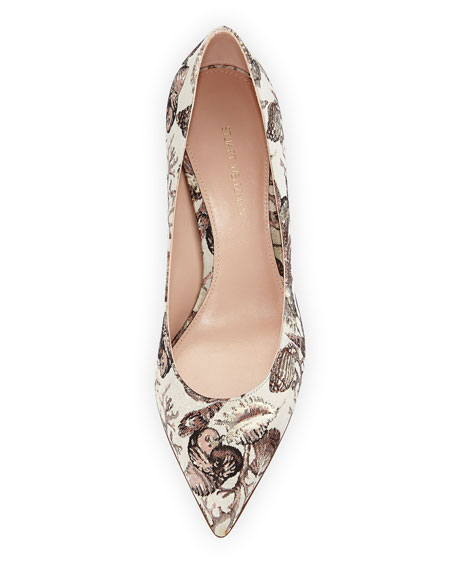 Chicory Seashell Jacquard Low-Heel Pump