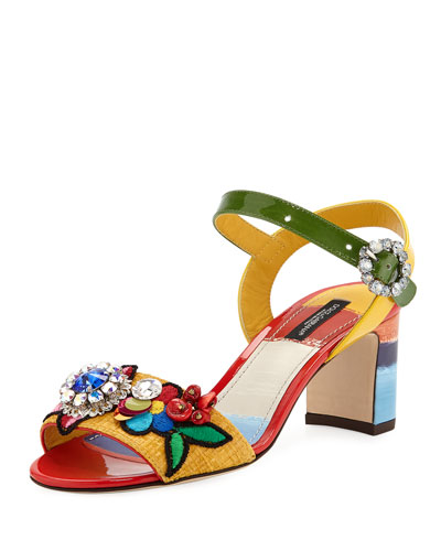 Flower Patch Quarter-Strap Sandals