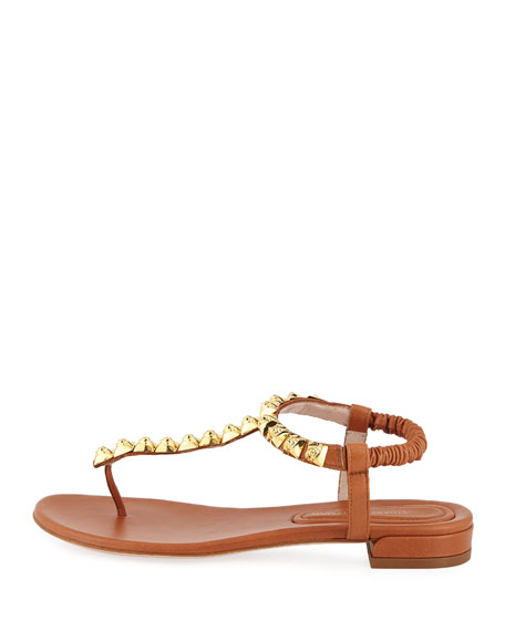 Esme Studded Flat Thong Sandal