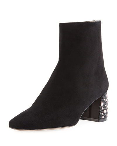Gatsby Embellished Suede Bootie