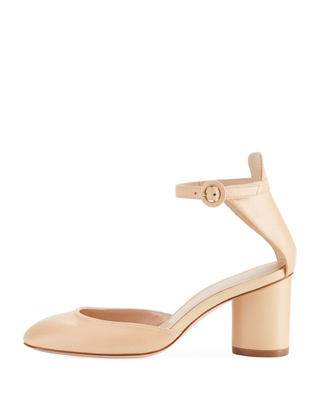 Kara Leather Ankle-Strap Pump