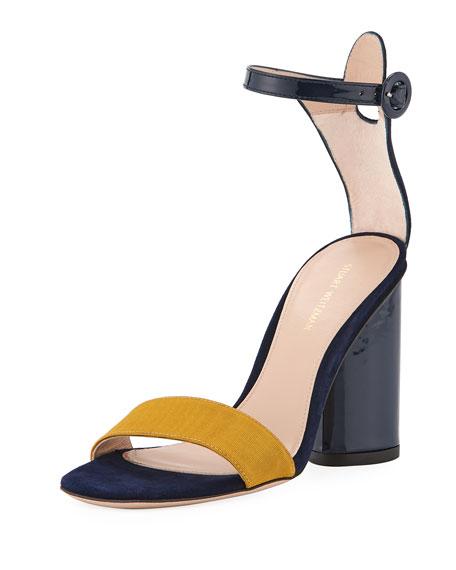 Stuart Weitzman Kimly Chic City Colorblock Sandal