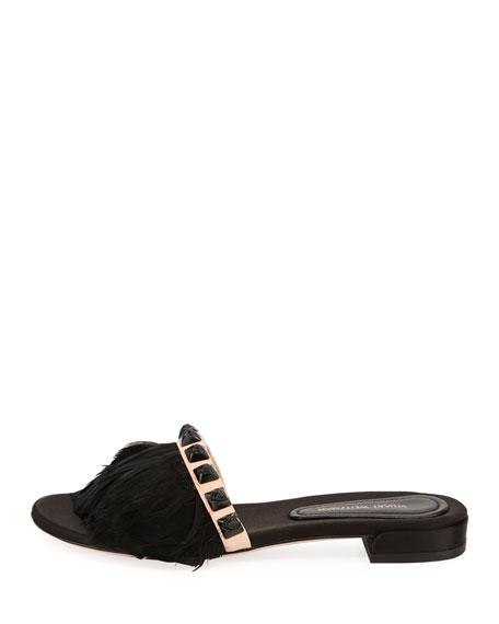 Lando Feather Slide Sandal