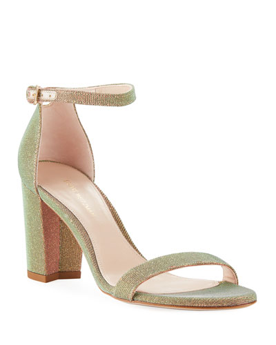 NearlyNude Iridescent Fabric Pump