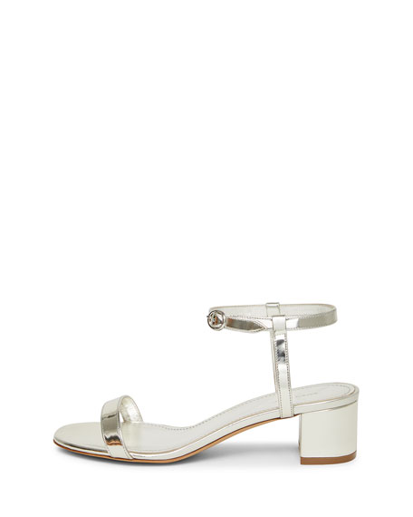 Mirrored Ankle-Strap Sandal