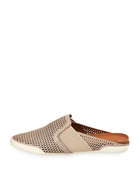 Melanie Metallic Perforated Mule