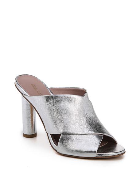 Emilyn Crisscross Metallic Mule Sandal