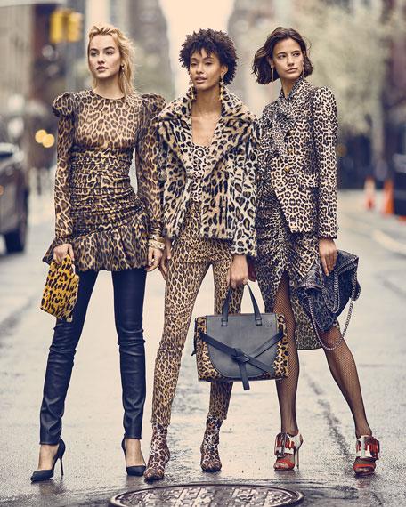Leopard-Print Neoprene Booties