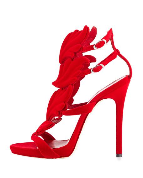 Coline Winged Suede Sandal