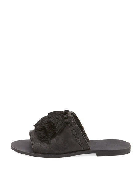 RIley Tassel Slide Sandal