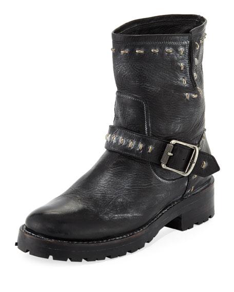 Natalie Lugged Rebel Moto Boot