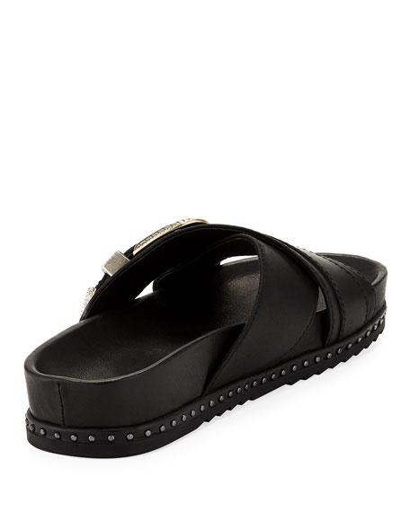 Lily Western Crisscross Slide Sandal