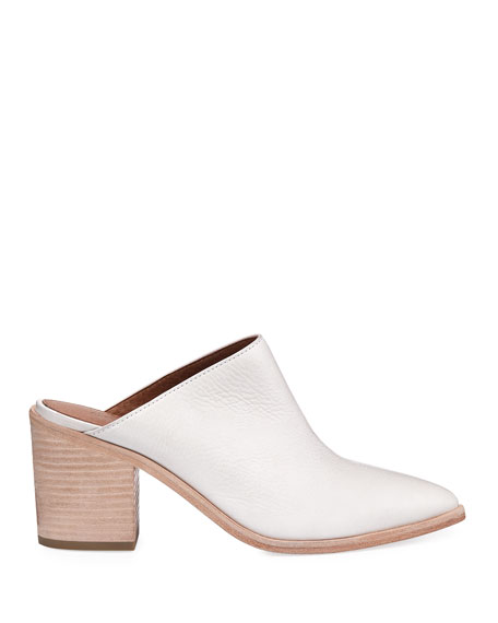 Flynn Leather Block-Heel Mule