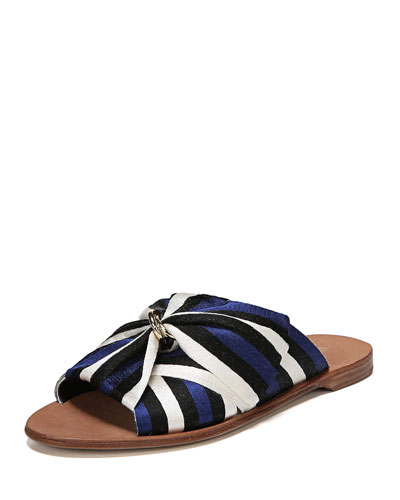 Bella Flat Slide Sandal with Bow