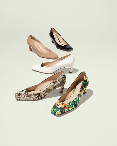 Chelsea New Look Seashell Jacquard Pump