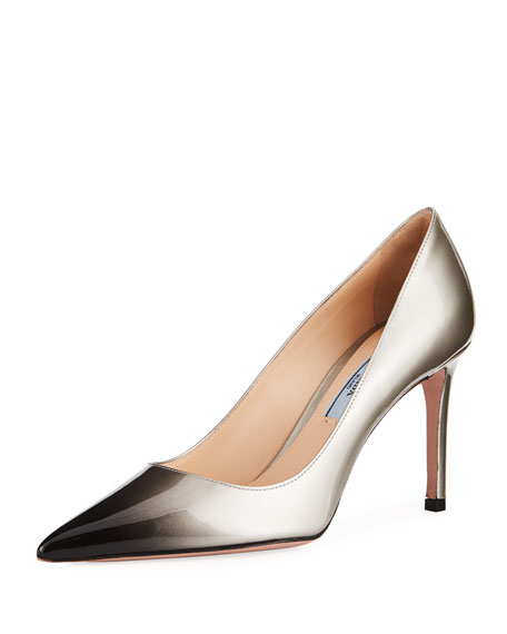 Ombré Patent Leather Pump