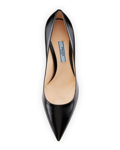 Patent Saffiano Leather 85mm Pump