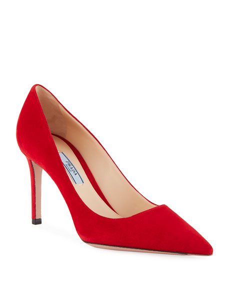 Suede Point-Toe 85mm Pump