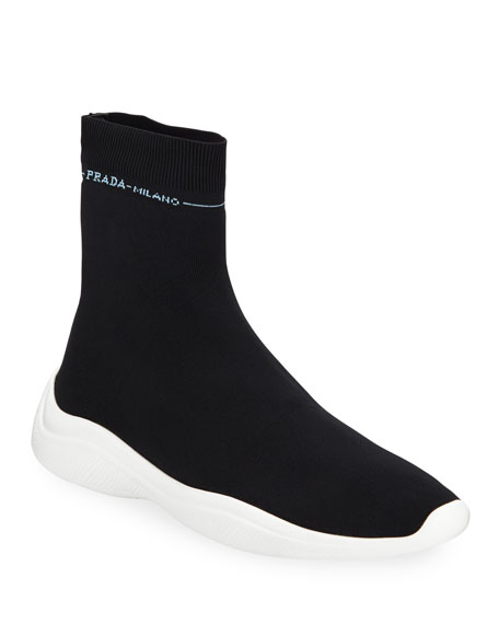 Prada Knit Sock Trainer Sneakers