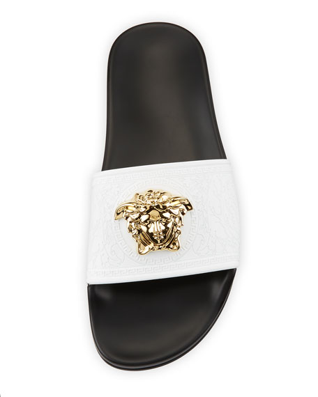 Versace Leather Pool Sandal