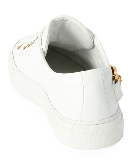Medusa Calf Leather Low-Top Sneakers