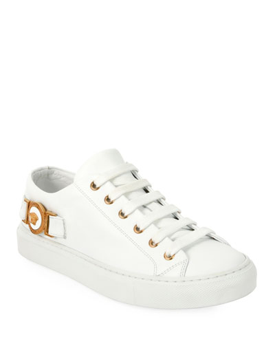 Medusa Calf Leather Low-Top Sneaker
