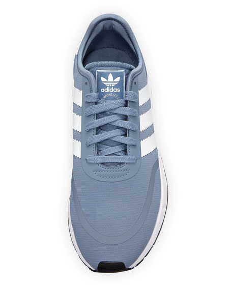 N-5923 Fabric Sneakers with Leather 3-Stripes