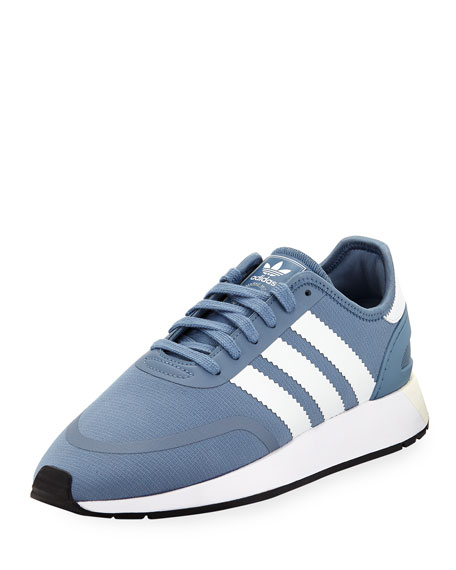 Adidas N-5923 Fabric Sneaker with Leather 3-Stripes