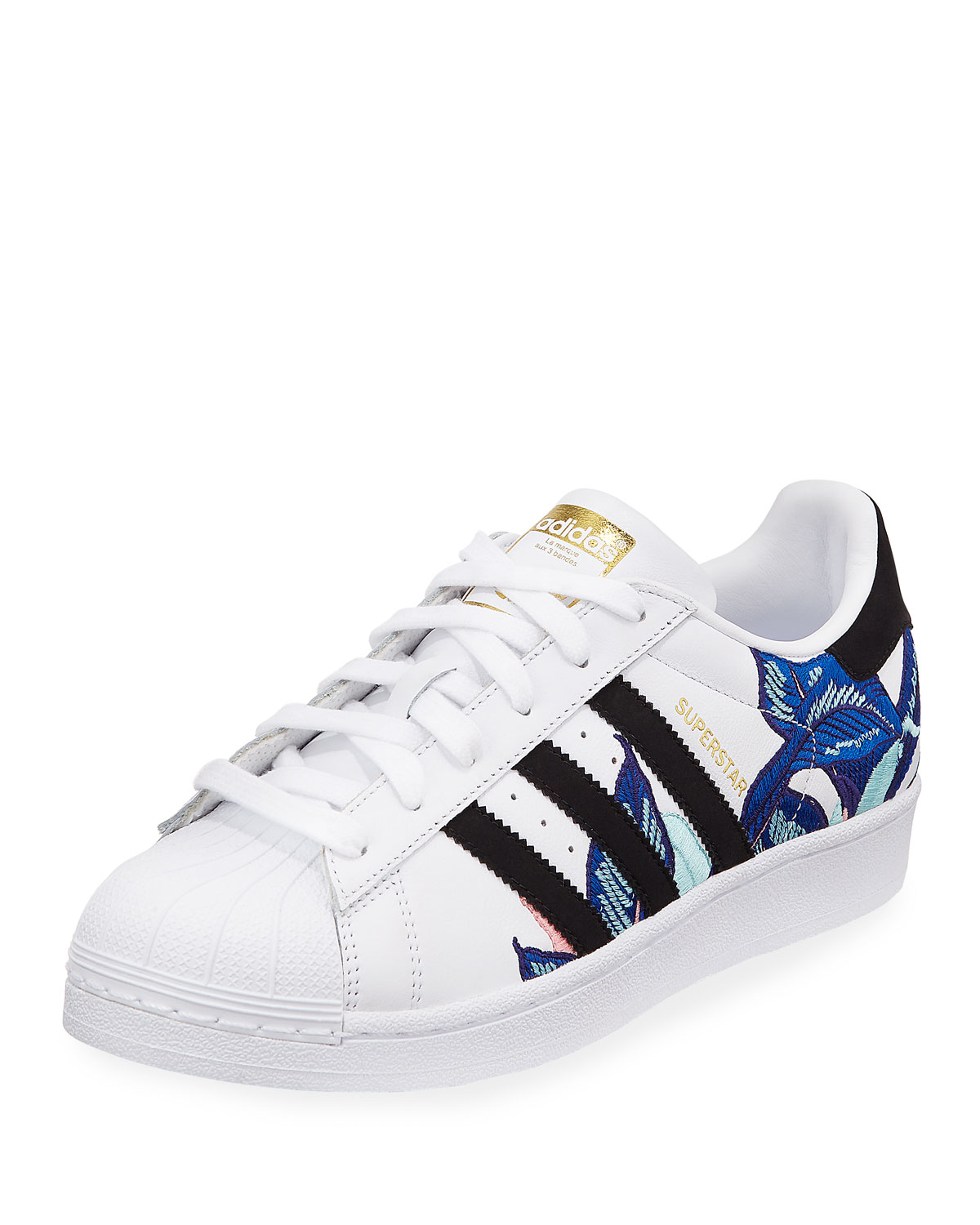 Adidas Superstar Embroidered Sneakers  d944a8e030