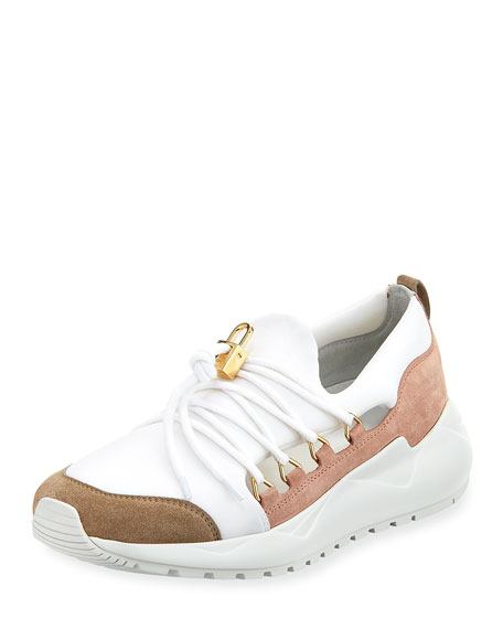 Buscemi Run1 Cut Neoprene Lace-Up Sneaker