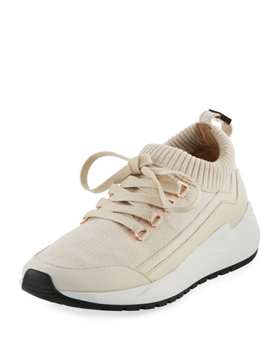 Runner 1 Knit Mesh Lace-Up Sneaker