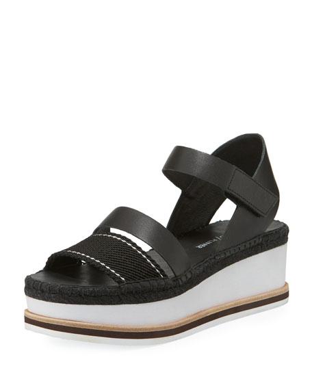 Donald J Pliner Anie Platform Mesh/Calf Wedge Sandal