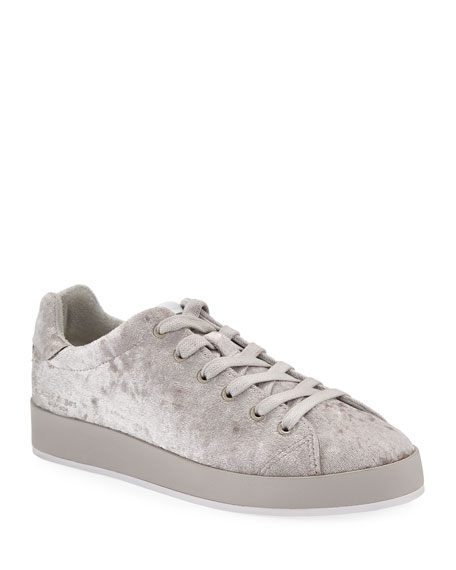 RB1 Low-Top Velvet Low-Top Sneakers