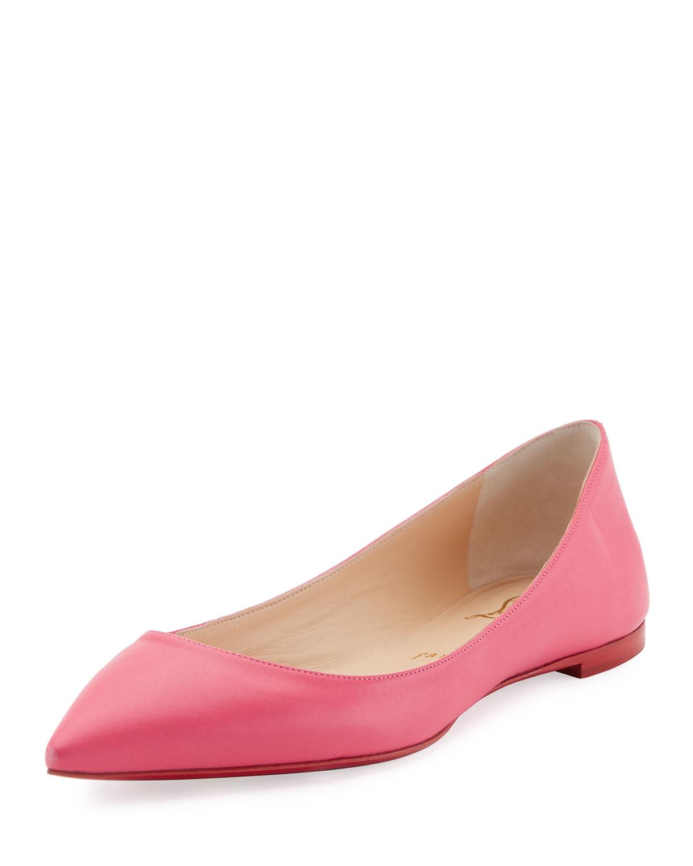 size 40 e4e0c e1ea3 Ballalla Smooth Leather Red Sole Ballet Flat