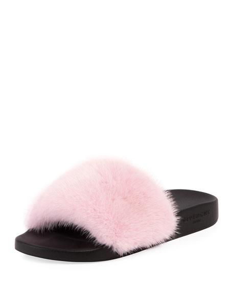 Givenchy Mink Fur Slide Sandal