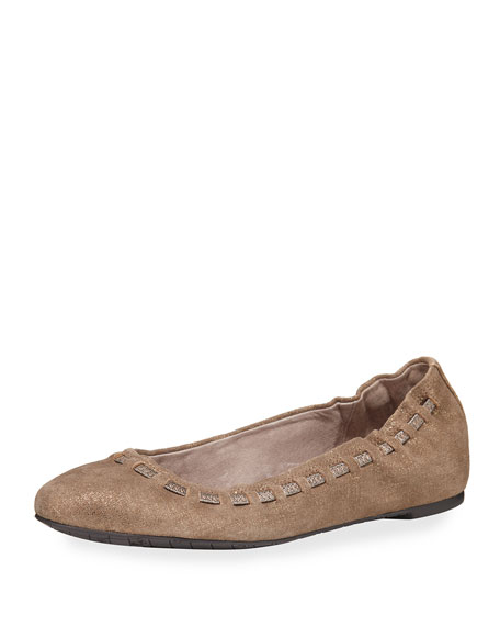 Paddi Interlaced Metallic Ballerina Flat