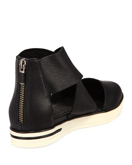 Carver Crisscross Leather Sneakers
