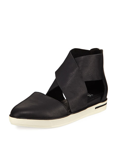 Carver Crisscross Leather Sneaker