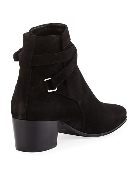 Rock Blake Suede Ankle-Wrap Booties