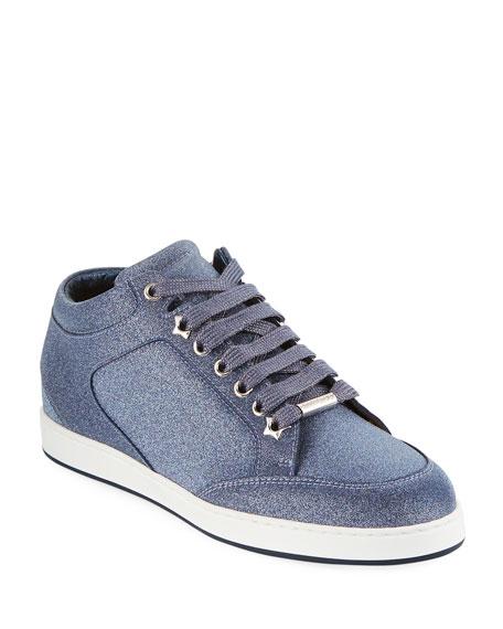 Jimmy Choo Miami Glitter Platform Sneakers