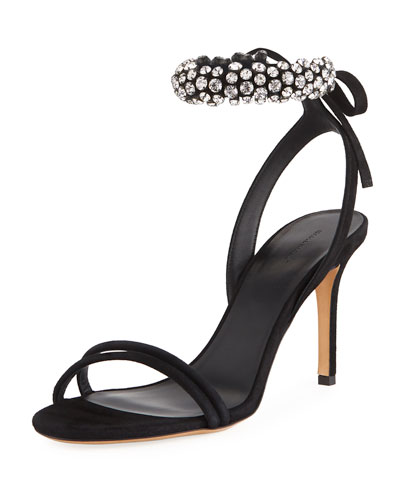 Isabel Marant Alrin Jeweled Ankle-Strap Sandal