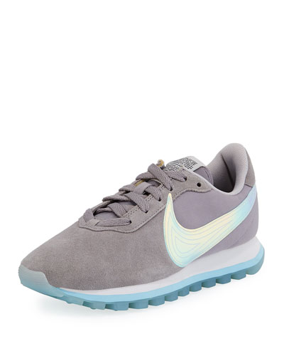 Pre-Love O.X. Suede Sneaker with Holograph Swoosh