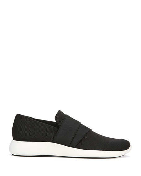 Aston Solid Knit Fabric Slip-On Sneakers