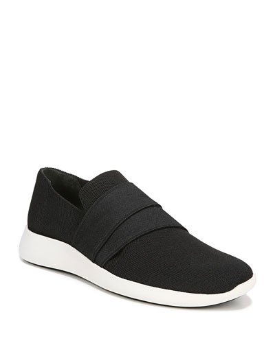 Aston Solid Knit Fabric Slip-On Sneaker