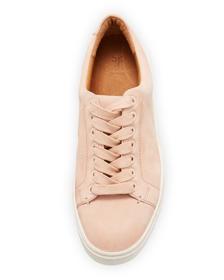 Ivy Low-Top Nubuck Lace-Up Sneakers