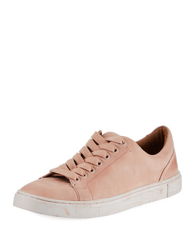 Ivy Low-Top Nubuck Lace-Up Sneaker
