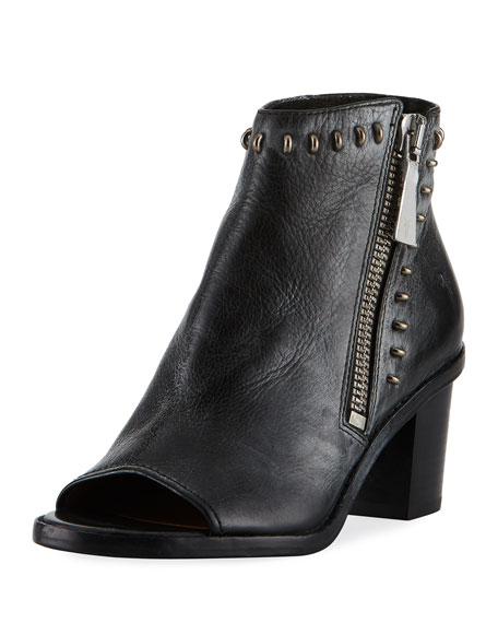 Frye Brielle Rebel Zip Stud Bootie